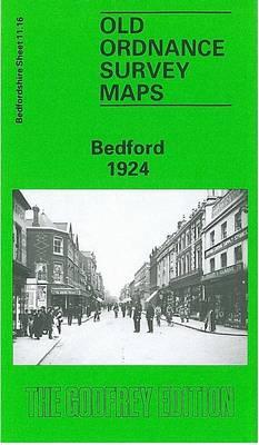 Bedford 1924: Bedford  Sheet 11.16 - Old O.S. Maps of Bedfordshire (Sheet map, folded)