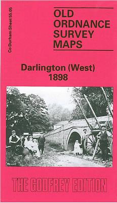 Darlington (West) 1898: Durham Sheet 55.05 - Old Ordnance Survey Maps of County Durham (Sheet map, folded)