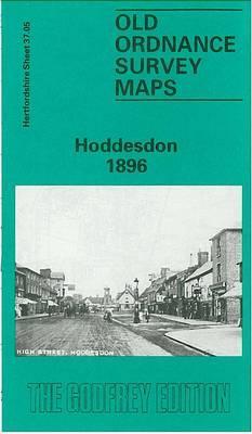 Hoddesdon 1896: Hertfordshire Sheet 37.05 - Old O.S. Maps of Hertfordshire (Sheet map, folded)