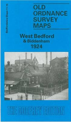 West Bedford and Biddenham 1924: Bedfordshire Sheet 11.15 - Old O.S. Maps of Bedfordshire (Sheet map, folded)