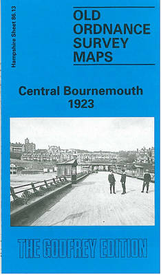 Central Bournemouth 1923: Hampshire Sheet 86.13 - Old O.S. Maps of Hampshire (Sheet map, folded)