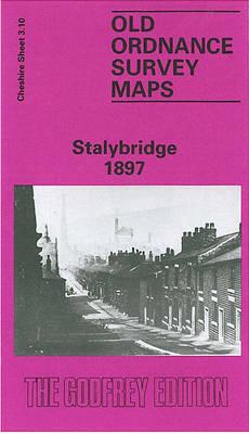 Stalybridge 1897: Cheshire Sheet 3.10 - Old O.S. Maps of Cheshire (Sheet map, folded)