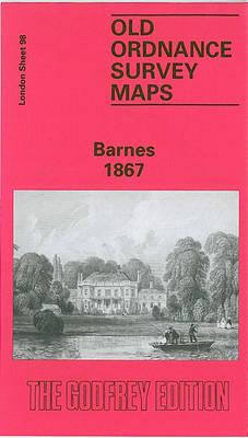 Barnes 1867: London Sheet 098.1 - Old O.S. Maps of London (Sheet map, folded)