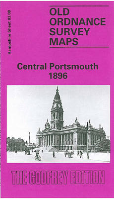 Central Portsmouth 1896: Hampshire Sheet 83.08 - Old O.S. Maps of Hampshire (Sheet map, folded)