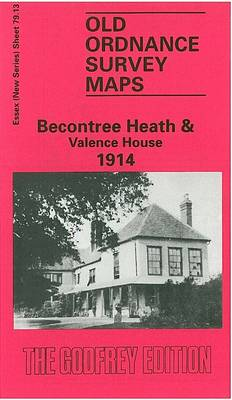 Beacontree Heath and Valence House 1914: Essex Sheet 79.13 - Old O.S. Maps of Essex (Sheet map, folded)