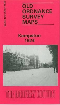 Kempston 1924: Bedfordshire Sheet 16.03 - Old O.S. Maps of Bedfordshire (Sheet map, folded)