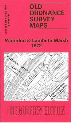 Waterloo and Lambeth Marsh 1872: London Large Scale 07.84 - Old Ordnance Survey Maps of London - Yard to the Mile (Sheet map, folded)