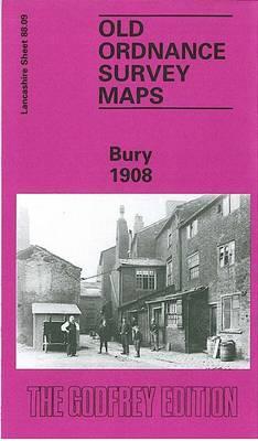 Bury 1908: Lancashire Sheet 88.09 - Old O.S. Maps of Lancashire (Sheet map, folded)