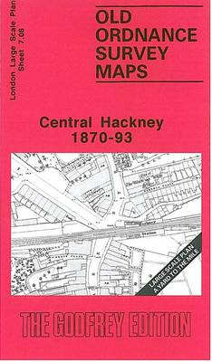 Central Hackney 1870-93: London Large Scale Sheet  07.08 - Yard to the Mile Maps London (Sheet map, folded)