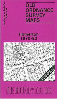 Homerton 1870-93: London Large Scale Sheet 07.09 - Old Ordnance Survey Maps of London - Yard to the Mile (Sheet map, folded)