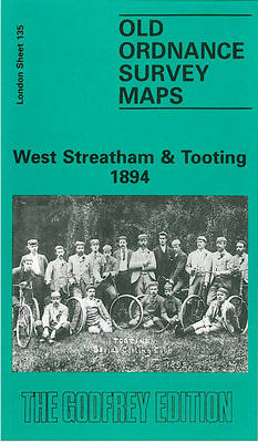 West Streatham and Tooting 1894: London Sheet 135 - Old O.S. Maps of London (Sheet map, folded)