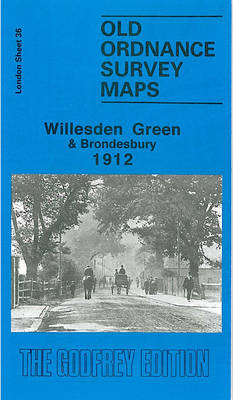 Willesden Green 1913: London Sheet 036.3 - Old Ordnance Survey Maps of London (Sheet map, folded)