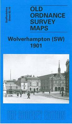 Wolverhampton (South West) 1901: Staffordshire Sheet 62.10 - Old O.S. Maps of Staffordshire (Sheet map, folded)