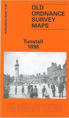 Tunstall 1898: Staffordshire Sheet 11.08 - Old O.S. Maps of Staffordshire (Sheet map, folded)