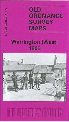 Warrington (West) 1905: Lancashire Sheet 115.04 - Old O.S. Maps of Lancashire (Sheet map, folded)