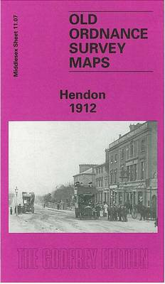 Hendon 1912: Middlesex Sheet  11.07b - Old O.S. Maps of Middlesex (Sheet map, folded)