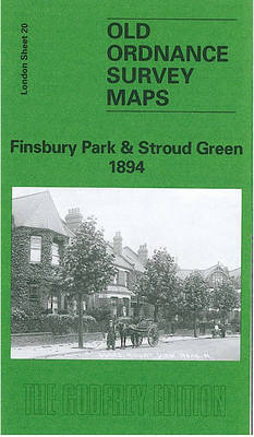 Finsbury Park and Stroud Green 1894: London Sheet   020.2 - Old O.S. Maps of London (Sheet map, folded)