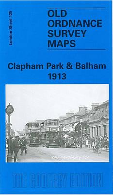 Clapham Park and Balham 1913: London Sheet 125.3 - Old O.S. Maps of London (Sheet map, folded)