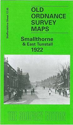 Smallthorne and East Tunstall 1922: Staffordshire Sheet 12.05 - Old O.S. Maps of Staffordshire (Sheet map, folded)