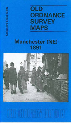 Manchester (NE) 1891: Lancashire Sheet 104.07 - Old O.S. Maps of Lancashire (Sheet map, folded)
