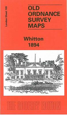 Whitton 1894: London Sheet 109 - Old O.S. Maps of London (Sheet map, folded)