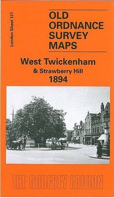 West Twickenham and Strawberry Hill 1894: London Sheet 121 - Old O.S. Maps of London (Sheet map, folded)