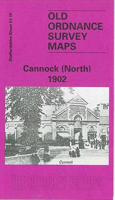 Cannock (North) 1902: Staffordshire Sheet 51.10 - Old O.S. Maps of Staffordshire (Sheet map, folded)
