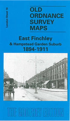 East Finchley and Hampstead Garden Suburb 1894-1911: London Sheet  010.2 - Old O.S. Maps of London (Sheet map, folded)
