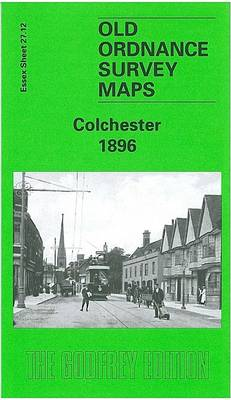 Colchester 1896: Essex Sheet 27.12 - Old O.S. Maps of Essex (Sheet map, folded)