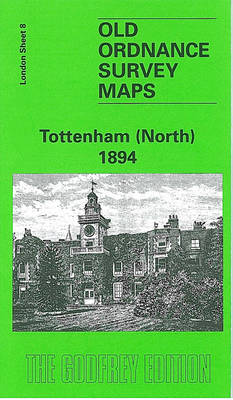 Tottenham (North) 1894: London Sheet 008.2 - Old O.S. Maps of London (Sheet map, folded)