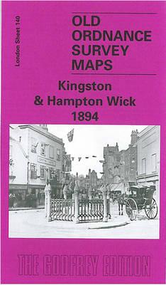 Kingston and Hampton Wick 1894: London Sheet 140.2 - Old O.S. Maps of London (Sheet map, folded)