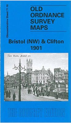 Bristol (NW) & Clifton 1901: Gloucestershire Sheet 71.16 - Old O.S. Maps of Gloucestershire (Sheet map, folded)