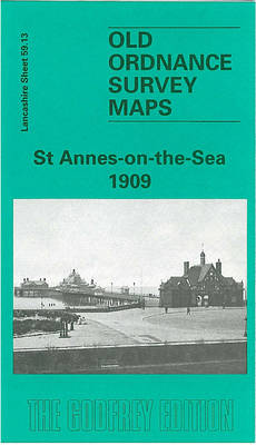 St.Annes-on-the-Sea 1909: Lancashire Sheet 59.13 - Old O.S. Maps of Lancashire (Sheet map, folded)