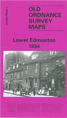 Lower Edmonton 1894: London Sheet 001 - Old O.S. Maps of London (Sheet map, folded)