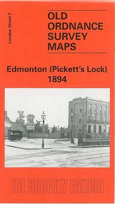 Edmonton (Pickett's Lock) 1894: London Sheet 002 - Old O.S. Maps of London (Sheet map, folded)