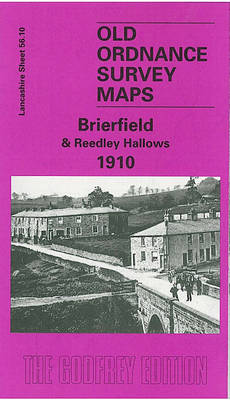 Brierfield and Reedley Hallows 1910: Lancashire Sheet 56.10 - Old O.S. Maps of Lancashire (Sheet map, folded)