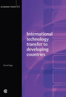 International Technology Transfer to Developing Countries - Economic Paper Series (Paperback)