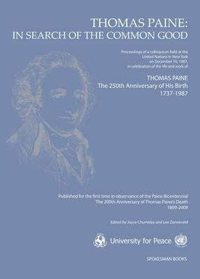 Thomas Paine: In Search of the Common Good (Paperback)