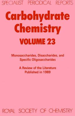 Carbohydrate Chemistry (Hardback)