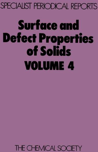 Surface & Defect Properties of Solids (Hardback)