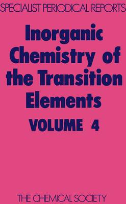 Inorganic Chemistry of the Transition Elmts (Hardback)