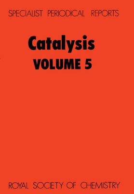 Catalysis, Vol 6 (Hardback)
