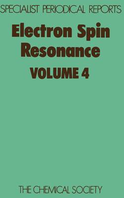 Electron Spin Resonance Vol 6 (Hardback)