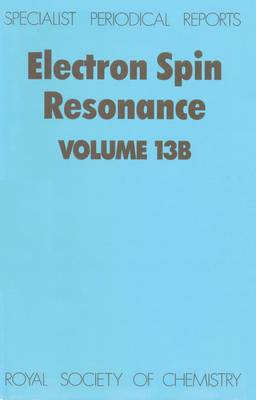Electron Spin Resonance: Volume 11A (Hardback)
