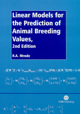 Linear Models for the Prediction of Animal Breeding Values (Paperback)