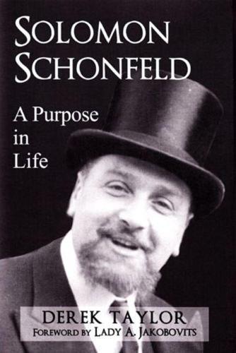 Solomon Schonfeld: A Purpose in Life (Hardback)