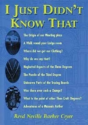 I Just Didn't Know That (Paperback)