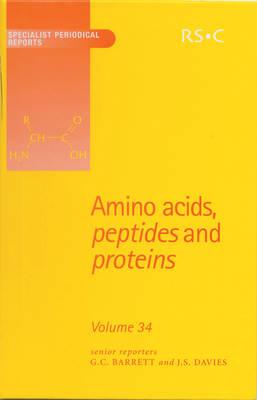 Amino Acids, Peptides and Proteins: Volume 34 (Hardback)