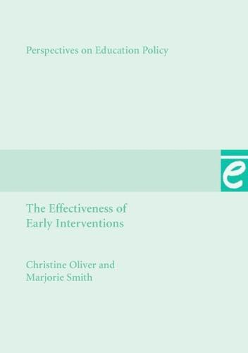 The Effectiveness of Early Interventions - Perspectives on Education Policy 10 (Paperback)