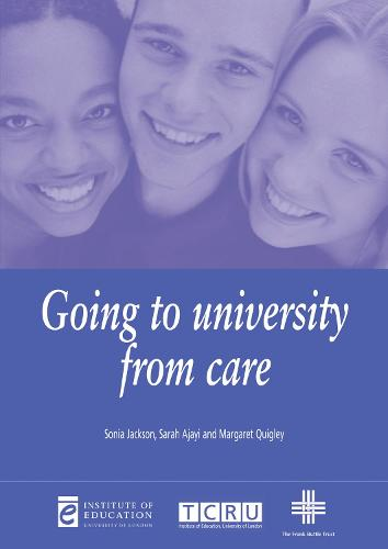Going to University from Care - Issues in Practice (Paperback)